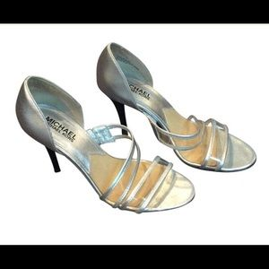 Michael Kors PVC silver heel sandal